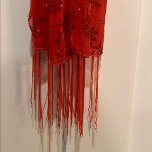 Red shear scarf